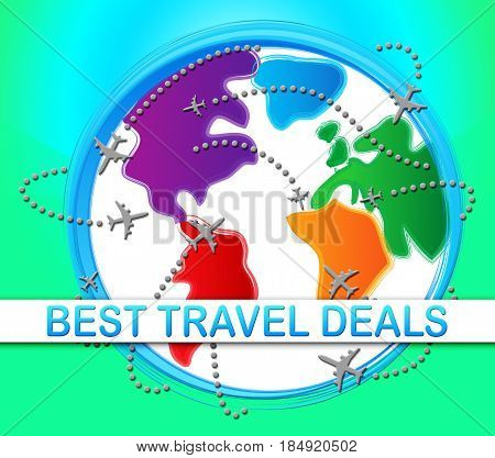Best Travel Deals Meaning Bargains 3D Illustration