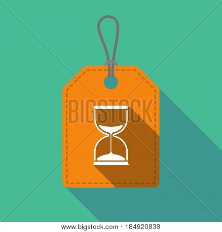 Long Shadow Product Label With A Sand Clock