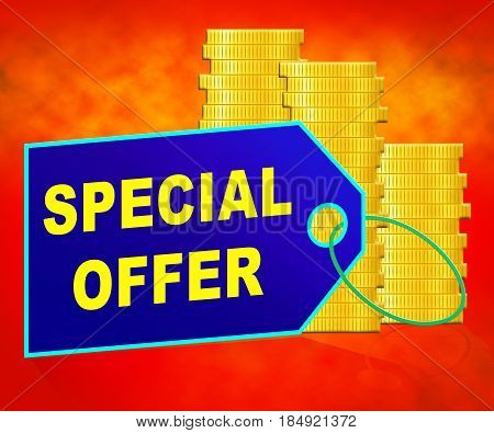 Special Offer Representing Big Reductions 3D Illustration