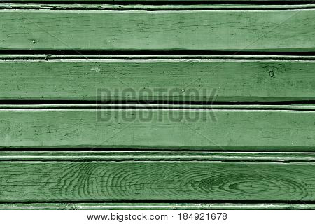 Green Color Wood Wall Pattern.