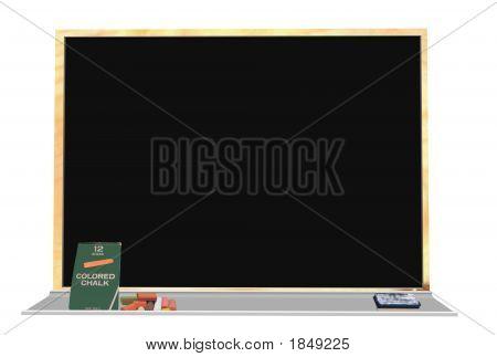 Chalkboard And Chalk