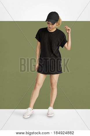 Asian Woman Casual Lifestyle Solitude Concept