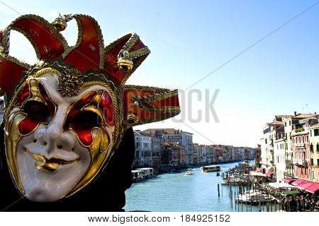 Carnevale di Venezia, Ponte di Rialto - Italia