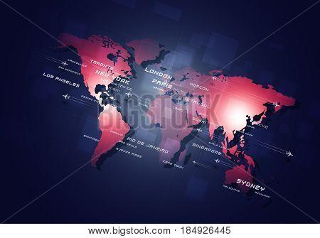 World Aviation Business Background