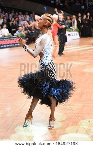 Latin Woman Dancer In A Dance Pose