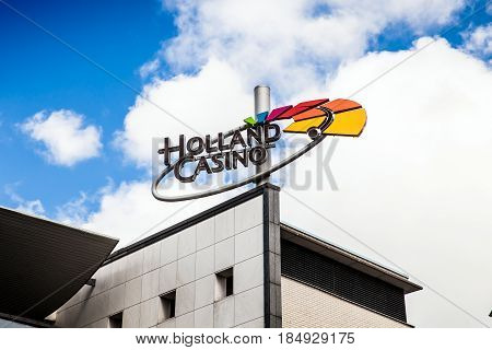 Amsterdam, Netherlands - April, 2017: National Foundation for the Exploitation of Casino Games in the Netherlands. Holland Casino has the legal monopoly on gambling in the Netherlands