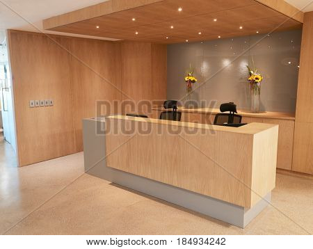 Reception Area Of Modern Office With No People