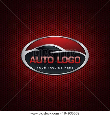 automotive emblem Logo. Fully editable Illustration vector