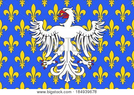 Flag of Le Puy-en-Velay is a commune in the Haute-Loire department in south-central France. Vector illustration