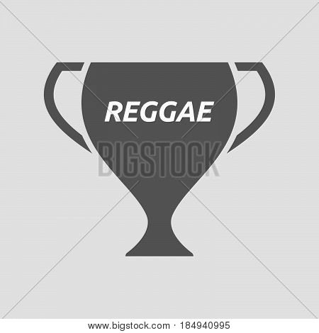 Isolated Cup With    The Text Reggae