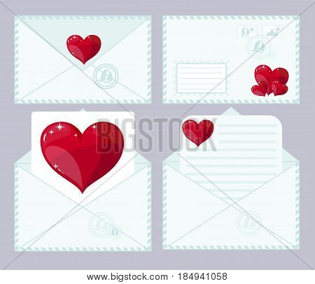 love letter, flat icon. Stock flat vector illustration