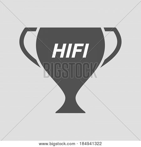 Isolated Cup With    The Text Hifi