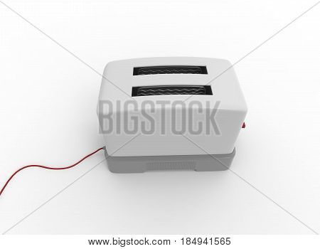 3d illustration of toaster. white background isolated. icon for game web.