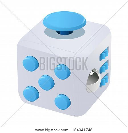 Fidget Cube Vector Illustration