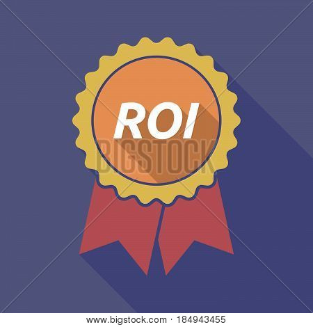 Long Shadow Badge With    The Return Of Investment Acronym Roi