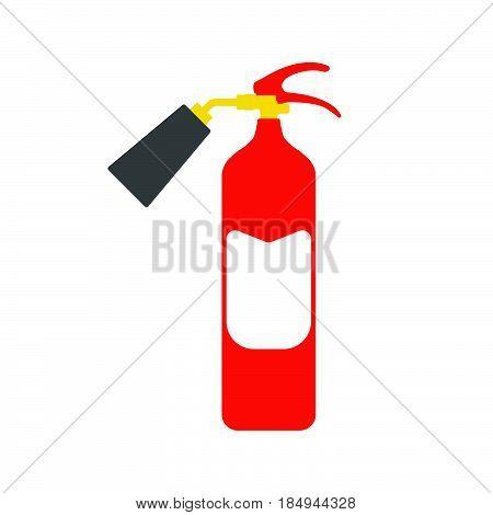 Fire Extinguisher. Fire Departament Equipment Icons. Vector Illustration.