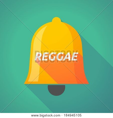 Long Shadow Bell With    The Text Reggae