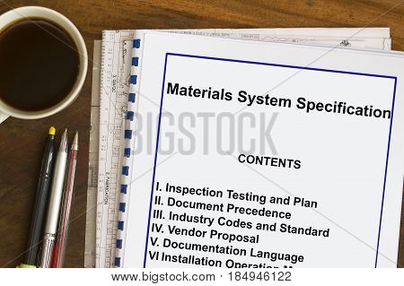 Materials System Specification