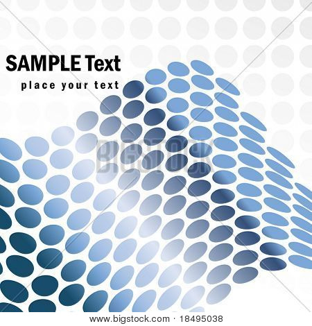Vector - Metallic halftone retro dots forming a wave for background use.