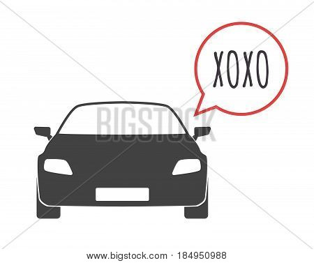 Isolated Car With    The Text Xoxo