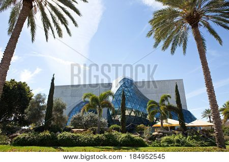 ST. PETERSBURG FLORIDA - FEBRUARY 17 2017: The Salvador Dali museum located in St. Petersburg Florida USA on February 17 2017.