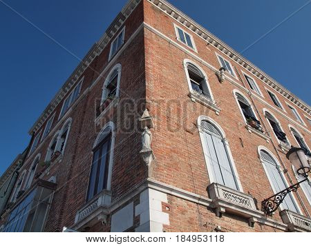 Chioggia, Italy. Ancient palace, in the main street of the city