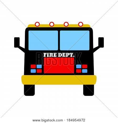 Fire Car. Fire Departament Equipment Icons. Vector Illustration.