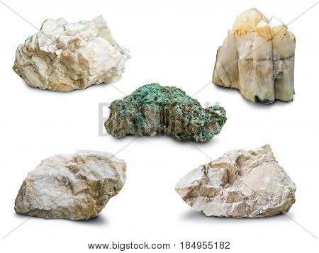 set of heavy stone isolated on white background 10K width HQ.
