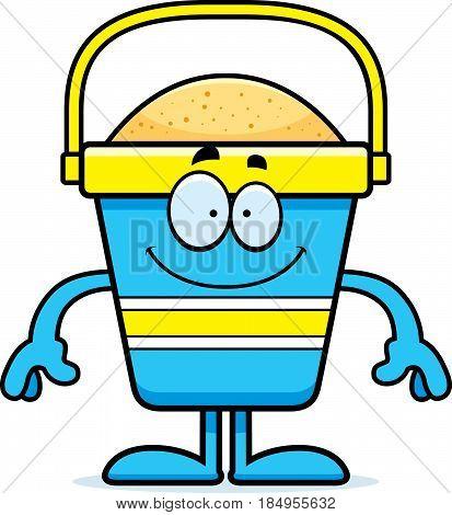 Happy Cartoon Beach Bucket