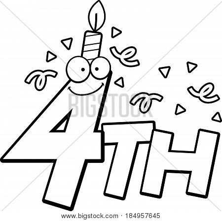 Cartoon 4Th Birthday