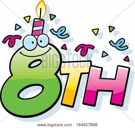 Cartoon 8Th Birthday