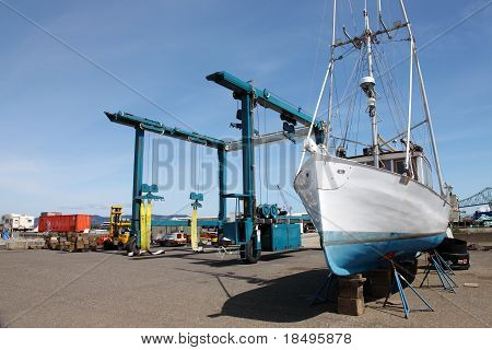 Repair yard for boats, Astoria OR.