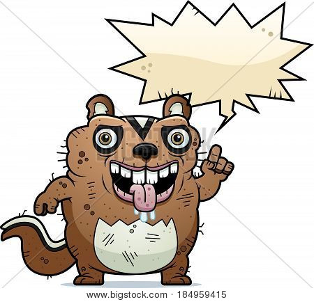 Cartoon Ugly Chipmunk Talking