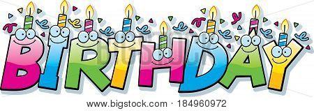 Cartoon Birthday Text