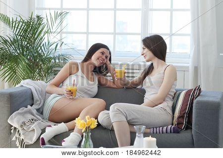 Beauty. Women in spa salon