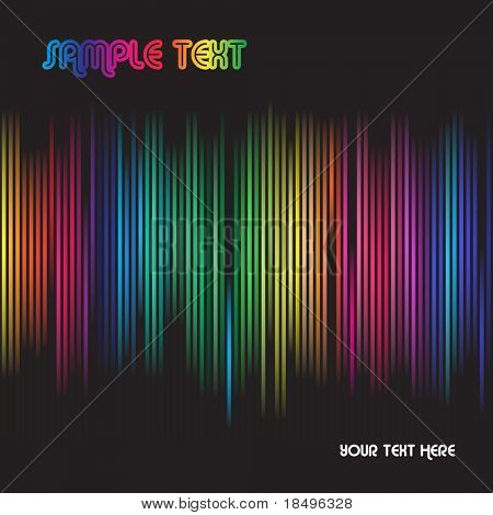 Vector - Colorful spectrum for background abstract use