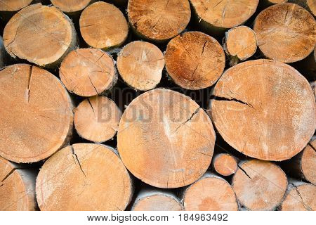 Pile of firewood in Austria