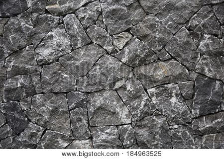Natural stone wall in Austria