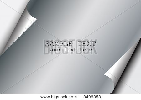Vector - Paper or metal with realistic corner fold or curl