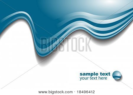 Vector - Blue wave modern pattern for use as backgrounds or in presentations