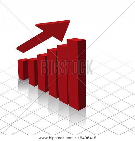Raster - Graph chart showing profit increase. Useful for business reports.