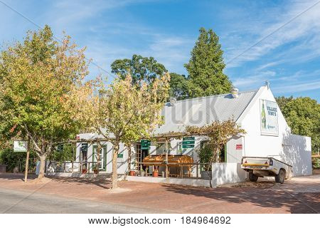 GREYTON SOUTH AFRICA - MARCH 27 2017: A wine boutique in Greyton a small town in the Western Cape Province of South Africa