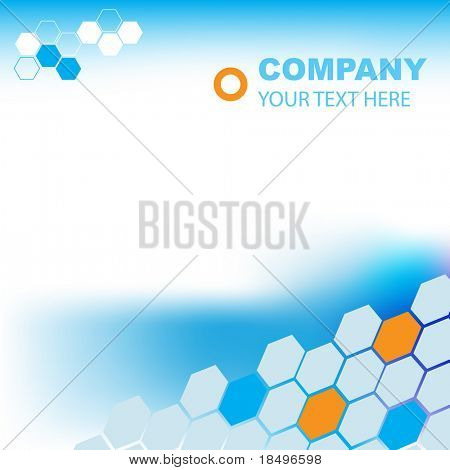 Vector - Illustration of a modern company background template for presentation or website