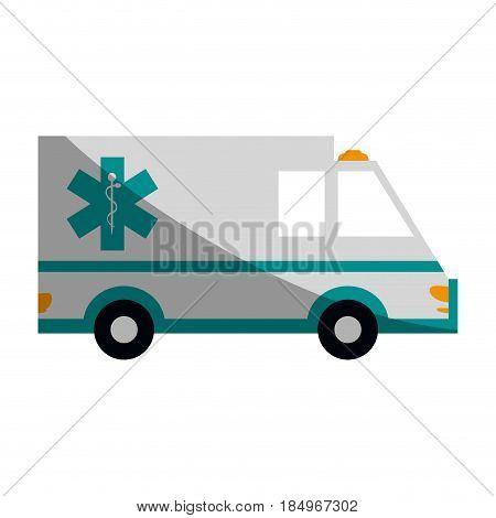 ambulance healthcare icon image vector illustration design