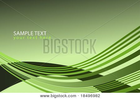 Vector - Wave pattern in lime green for background presentation use