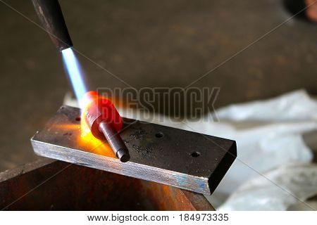 DIY home made metal hardening with gas cutting torch
