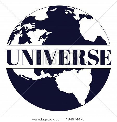 Universe vector illustration in flat style. Universe design element for emblem print card.