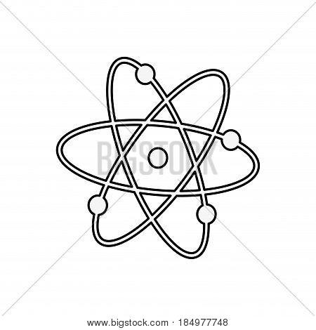 Atom molecule science icon vector illustration graphic design