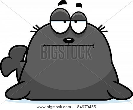 Bored Cartoon Seal