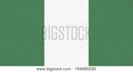 Flag Of Nigeria Wall.